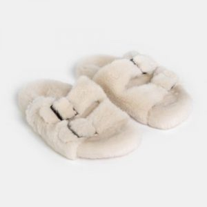 ducie london sofia cream slippers