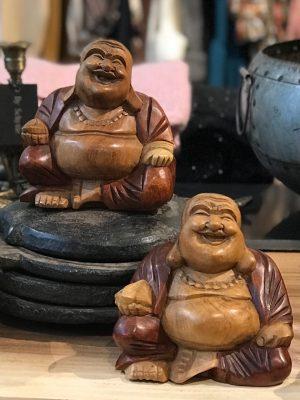 Bali lille buddha træfigur