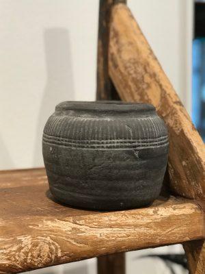 lille grå keramik krukke fra cest bon