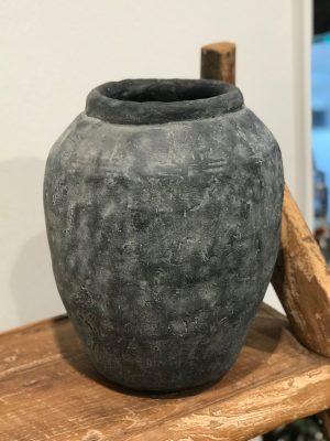stor grå keramik krukke fra cest bon