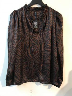 design by laerke skjorte i sort og brun