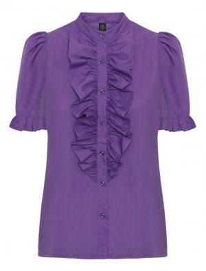 Lilla Queen the ruffle kortærmet skjorte med flæse fra Design by Laerke