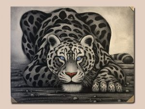 Håndlavet maleri fra Bali af en gepard