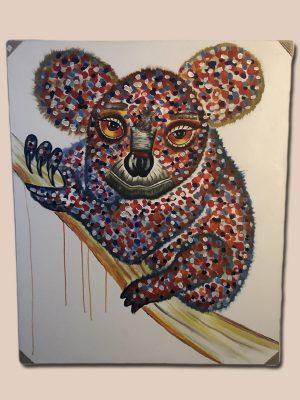 Håndlavet maleri koala bjørn