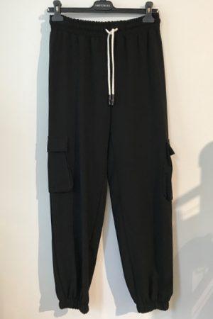 Imperial P9990032L joggingpants sort bukser med lommer og snøre i taljen