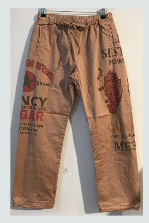 Sandafarvet Mila Track bukser fra Me369