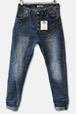 Blå jeans med knapper fra Piro. Model 536