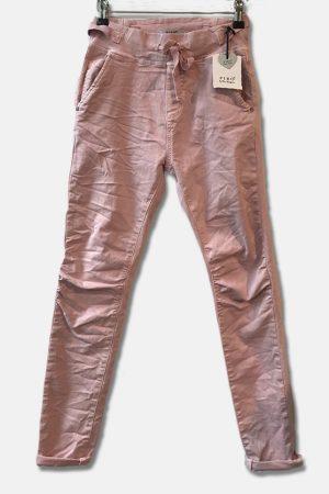 Piro rosa jeans 512-15 med spænder i siden