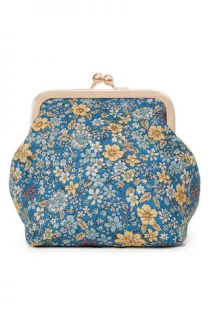 Sonja Love blomstret Liberty clutch og kosmetukpung blue/yellow