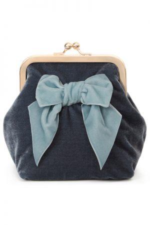Sonja Love velvet velour clutch og kosmetukpung blue/babyblue