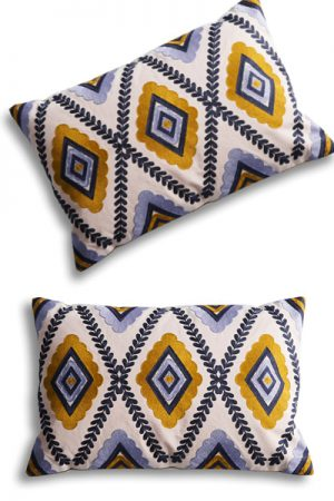 By Living Harlequien Cushion mustard pude 40x60 cm