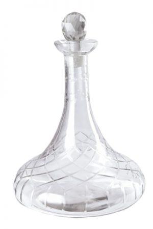 Cest bon klar glas vinkaraffel med låg