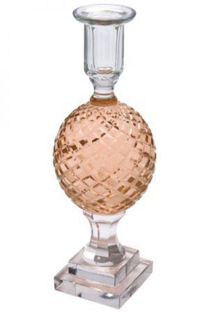Cest Bon glaskuglestage på fod rosa til almindelige lys H: 25 cm