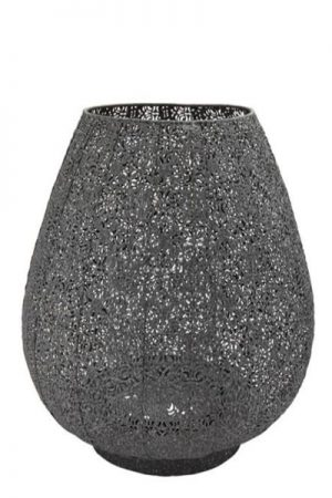 Cest bon grå metal lanterne 30 cm.