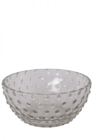 C´est Bon glasskål med bobler i klar glas.