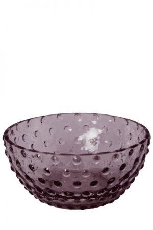 C´est Bon glasskål med bobler i violet glas.