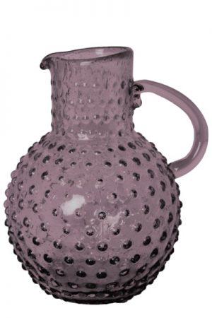 C´est Bon glaskande med bobler i violet glas
