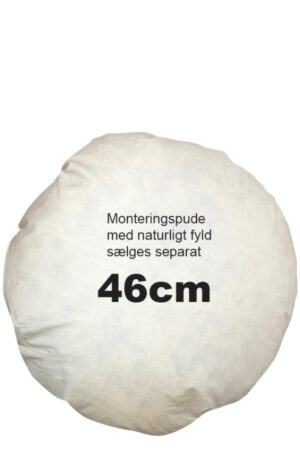 Monteringspude med andefjer og dun rund 46 cm