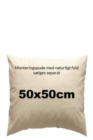 Monteringspude med andefjer og dun 50x50 cm
