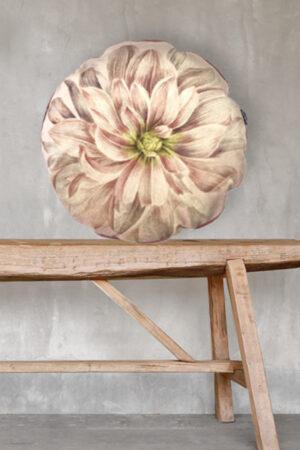 Vanilla Fly rund pudebetræk 46 cm Dahlia blomst