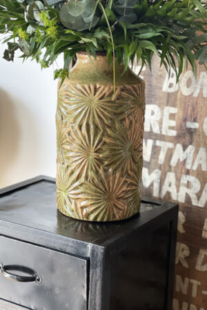 Vanilla Fly vintage grøn vase H: 35 cm