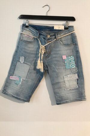 Cabana Living denim shorts med flotte detaljer