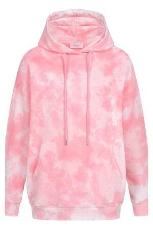 Cotton Candy Patui rosa multicolor sweatshirt med hætte