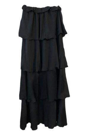 Design By Laerke sort stropløs kjole i lag