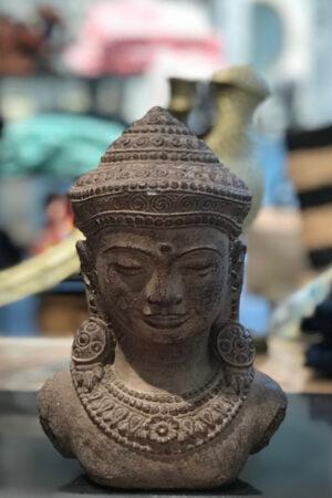 Bali håndlavet sten buddha figur højde 20 cm