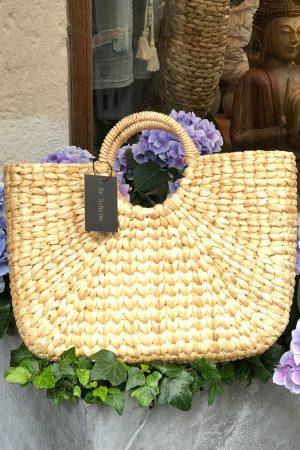 Flettet taske med hanke fra Bali