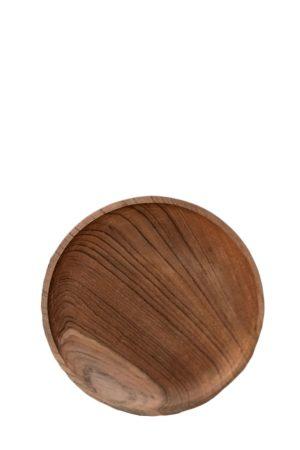 By Schytte lille rund teaktræ tallerken fra Bali. Ø: 20,5 cm
