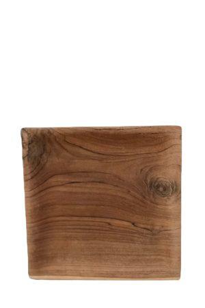 By Schytte kvadratisk teaktræ tallerken fra Bali. 20 x 20 cm