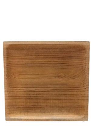 By Schytte kvadratisk teaktræ tallerken fra Bali. 30 x 30 cm
