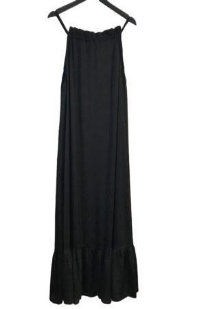 Design by Laerke lang sort tie kjole med tynde stropper