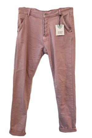 Piro rosa jeans med knaplukning model PB531A. Med lommer og stretch