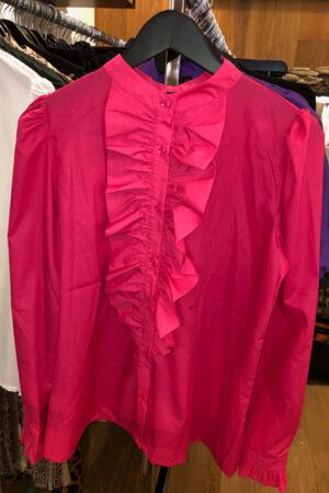 Design by Laerke pink Anne Ruffle langærmet skjorte
