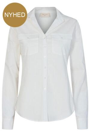 Freequent Jeanett hvid skjorte med brystlommer