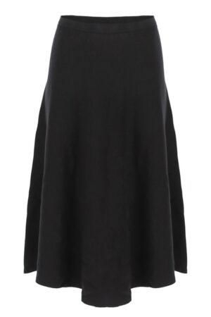 Imperial sort strik nederdel med vidde i