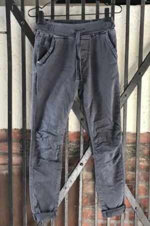 Piro grå jeans med elastik og spænder i taljen PB512A